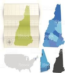 New Hampshire State Map by New Hampshire State Map Stock Vector Art 164545434 Istock