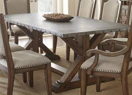 zinc table tops for sale amazing 25 zinc dining room tables abbott zinc top rectangular