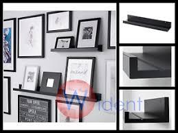 ikea mosslanda ikea mosslanda picture ledge wall floating shelf black ebay