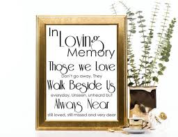 in loving memory wedding remembrance sign in loving memory wedding sign printable pdf