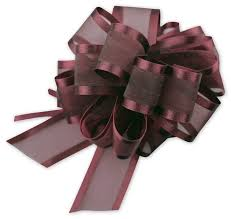 gift wrap bows burgundy sheer satin edge pull bow pr815 10 by