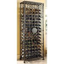 wine enthusiast 96 bottle antique bronze floor wine rack 634 96 01