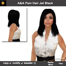 black women short grey hair second life marketplace a a pam hair jet black special color
