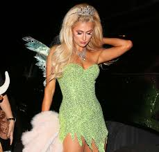 paris hilton transforms into tinkerbell for halloween party in la