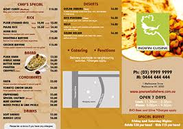 indian menu template menu printing free menu templates for restaurants and cafes
