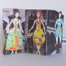 doll design book folding fabric book fashion fairytale paper doll collage fabric