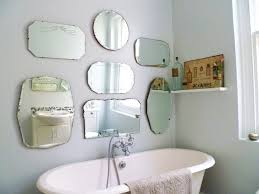 Decorating Ideas For Bathroom Mirrors Chrome Metal Wall Mount Faucet Mixed Decorating Bathroom Mirrors