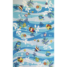 Fish Area Rug Kas Rugs Sonesta Blue Tropical Fish Area Rug Rug Size Runner 2 X