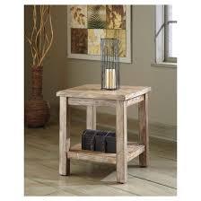 vennilux chair side end table bisque signature design by ashley