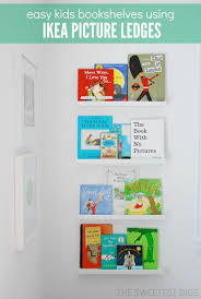 Ikea Ribba Picture Ledges Using Ikea Picture Ledges As Bookshelves In A Nursery The