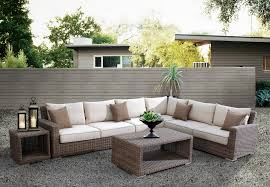 Wicker Outdoor Patio Set by Outdoor Sectional Sofa Black Finish Resin Wicker Patio Furniture