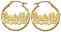 hoop earrings with name customized name earrings name stud and hoop earrings
