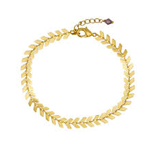 bracelet leaf images Gold leaf bracelet laviandbelle jpg