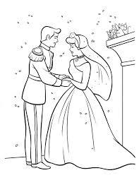 cinderella prince coloring bride cinderella coloring