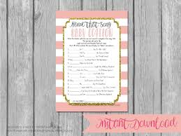 instant download printable baby shower game name that