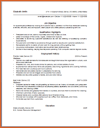 resume objective for restaurant job sample resume microsoft word