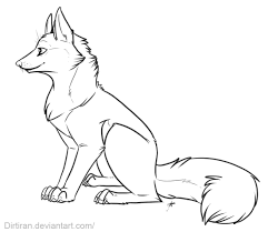 red fox coloring page sketch coloring page
