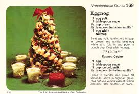 eggnog shrimp tree vintage recipe cards