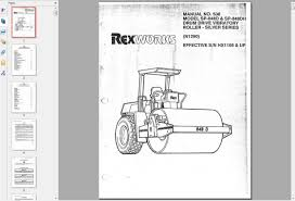 free automotive manuals rexworks model sp 848d u0026 sp 848dh drum