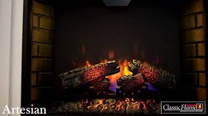 electric fireplace classic flame artesian youtube