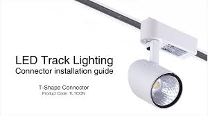 how to update track lighting how to install track lighting using a t shaped connector youtube