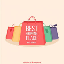shopping bags collection vector free