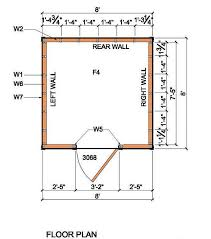 floor plans for sheds 8 8 lean to shed plans blueprints for garden shed