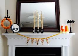 Halloween Themed Decorating Ideas Ideas Spooky Mantel Design Ideas With Halloween Theme To Make