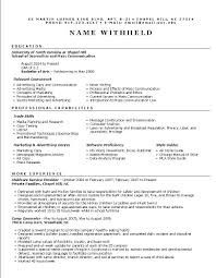 Resume Of It Student Resume Resume Creator For Students