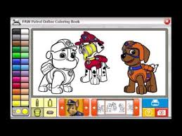 paw patrol da colorare episodio completo video educativo coloring