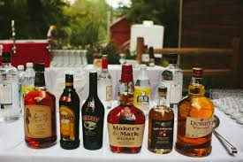liquor table how to set up a diy bar for your wedding a practical wedding we