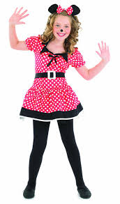 Minnie Mouse Costume Little Missie Mouse Ears Girls Fancy Dress Minnie Mouse Kids