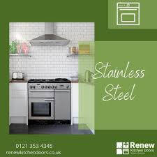 stainless steel kitchen cabinet doors uk renew kitchen doors uk ltd we can supply and fit your