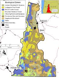 Map Of Oregon Fires by Major Ecological Zones Forests People Fire Interactions
