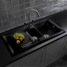 Black Glass Kitchen Sink Victoriaentrelassombrascom - Black glass kitchen sink