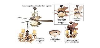 Deer Antler Ceiling Fan Light Kit Outdoorsman Ceiling Fans And Lighting Accessories Cabela S