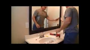 framing bathroom mirrors youtube