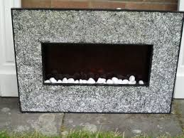 next sliver crackle wall fireplace electric fire in