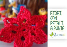 tutorial piastrelle uncinetto fiori con petali a punta tutorial in 5 minuti