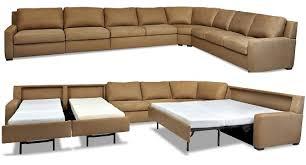 Sleeper Sofa With Chaise Sofa Graceful American Leather Sleeper Sofa Lyndon Sectional