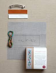 embroidered barrette kits