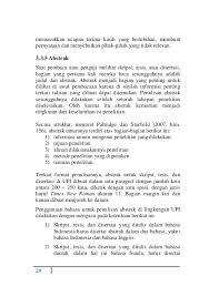 format abstrak tesis pedoman penulisan karya ilmiah upi tahun 2014