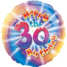 30th birthday balloons delivered colourful 30th birthday balloon delivered inflated in uk