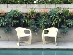 Molded Plastic Outdoor Chairs by Decorations Eye Catching Living Wall Designs For Creating Your Own