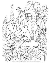 flower dragon coloring page by tablynn on deviantart