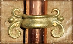 ornamental solid brass downspout bracket