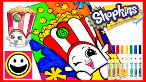 shopkins coloring pages poppy corn crayola coloring book