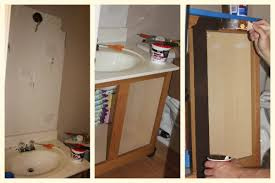 our powder room redo using rustoleum cabinet transformations