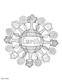 free earth day coloring page educational printables