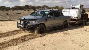 towing with ford ranger ford ranger towing 3 5 t through sand